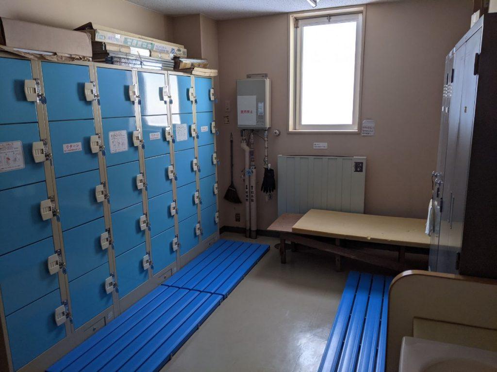 十和田市アネックススポーツランドの更衣室の画像